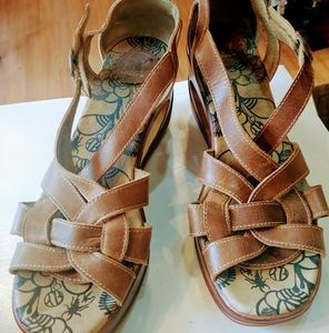 Fly London leather strappy sandals